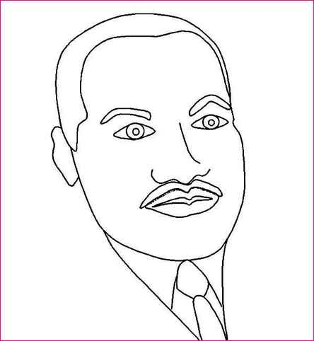 Martin luther king jr clipart simple vector library stock Martin Luther King Drawing Step Step at PaintingValley.com | Explore ... vector library stock