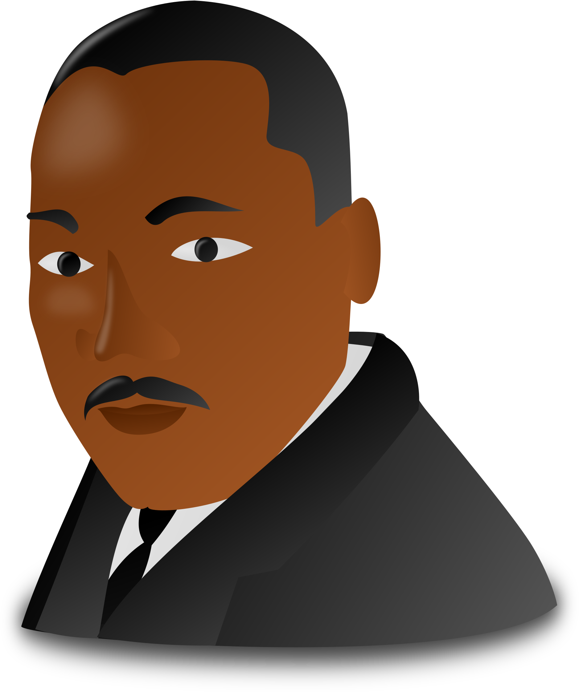 Martin luther king jr day clipart transparent background black and white stock HD Martin Luther King Jr - Martin Luther King Jr Clipart ... black and white stock