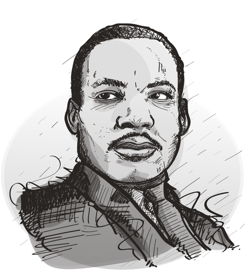 Martin luther king jr memorial clipart clip black and white library Martin Luther King Sketch at PaintingValley.com | Explore collection ... clip black and white library