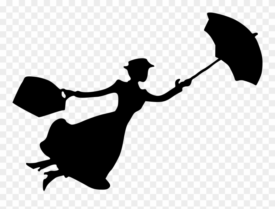 Maru poppins clipart clip freeuse stock Katie Nanna Mary Poppins Silhouette Cherry Tree Lane - Mary Poppins ... clip freeuse stock