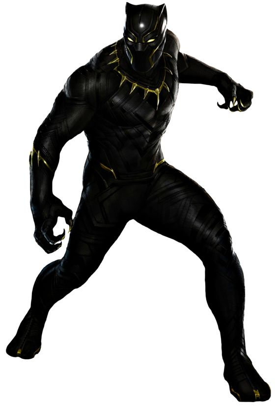 Marvel character clipart on transparent background png transparent library Black #Panther #Clip #Art. (THE * 5 * STÅR * ÅWARD * OF: * AW YEAH ... png transparent library