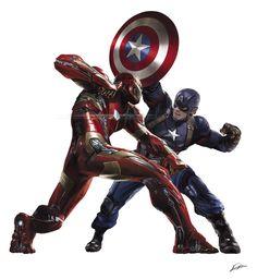 Marvel civil war clipart