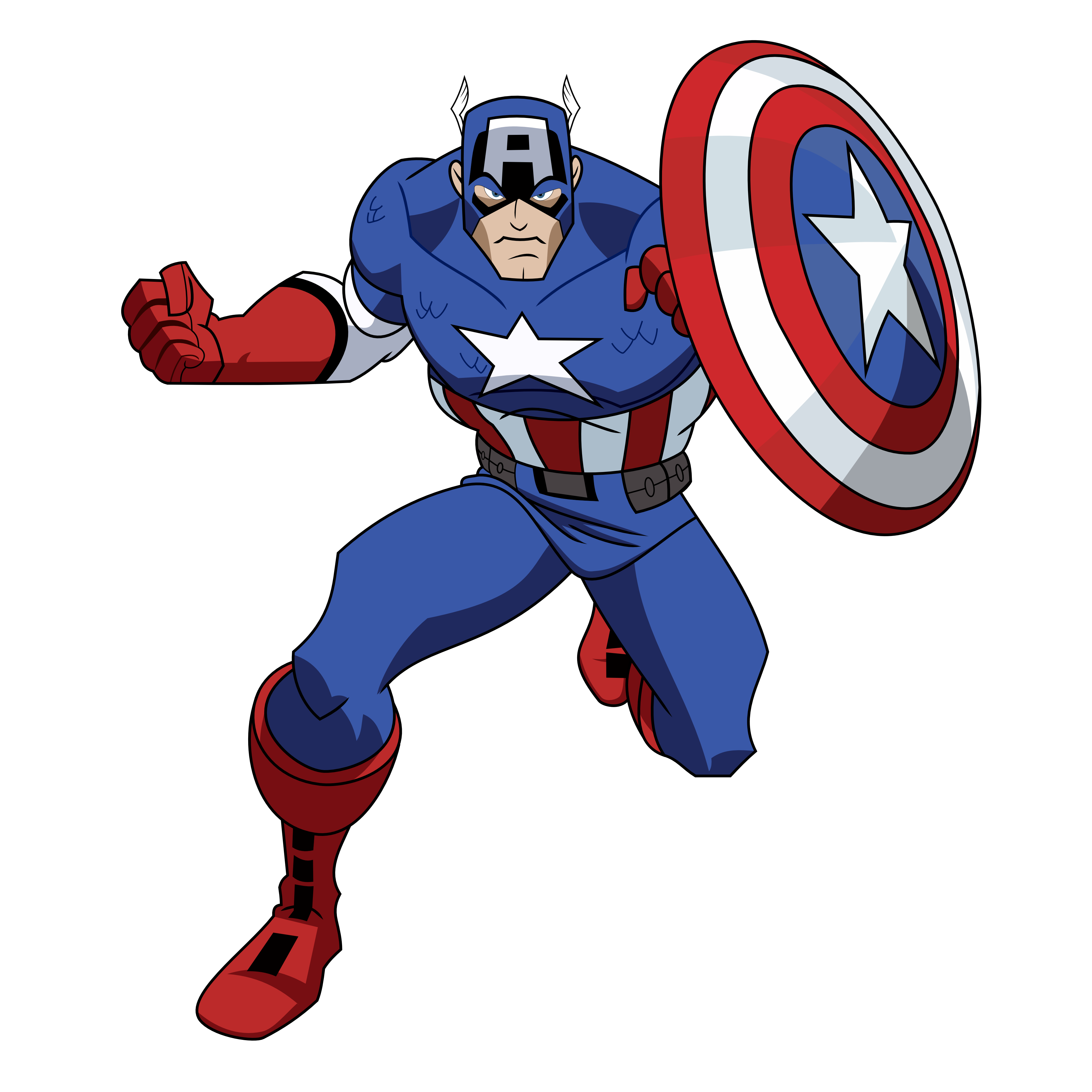 Marvel clipart picture free download captain-america-clipart-9ipzKr9AT.png (4000×4000) | Captain America ... picture free download
