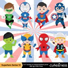 Marvel super hero clipart image freeuse library Superhero Kids inspired set Avengers, Spider Man, Wolverin ... image freeuse library