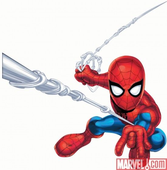 Marvel superhero clipart picture free download cartoon character superhero squad | Marvel Super Hero Squad Spider ... picture free download