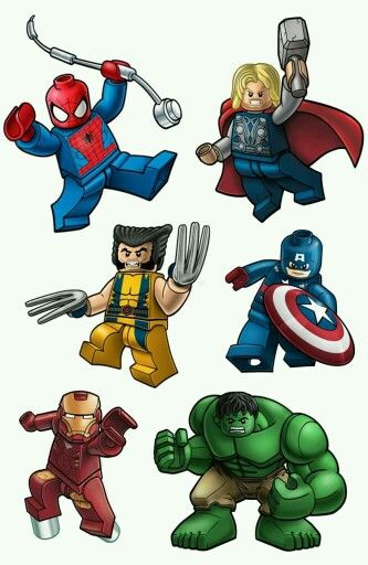 Marvel superhero clipart nice clip art royalty free download Lego Digital Clipart Lego Superhero Clipart by Cutesiness on Etsy ... clip art royalty free download