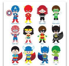 Marvel superhero clipart png jpg library stock Superhero Digital Clipart, Superhero Clipart, Superhero clip Art ... jpg library stock