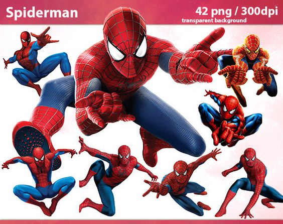 Marvel superhero clipart png image library 42 Spiderman PNG Digital Graphic Image marvel superhero Clipart ... image library