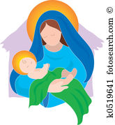 Mary and baby jesus clipart picture free Baby jesus Clipart and Stock Illustrations. 730 baby jesus vector ... picture free