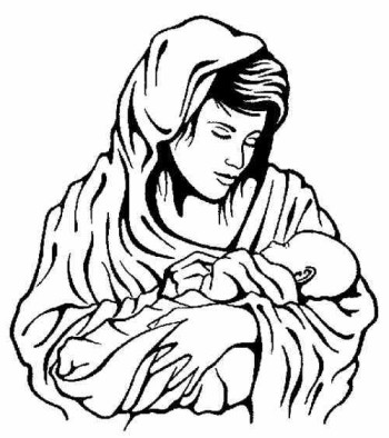 Mary and baby jesus clipart picture free Mary mother of jesus clipart - ClipartFest picture free