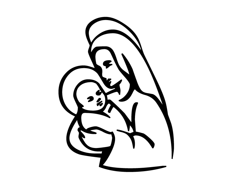 Mary and jesus clipart free download Mary and jesus clipart - ClipartFest free download
