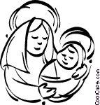 Mary and jesus clipart image transparent stock Mary and Jesus Clip Art – Clipart Free Download image transparent stock