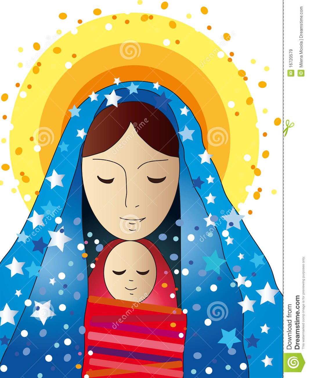 Mary and jesus playing clipart banner stock Mary And Jesus Royalty Free Stock Images - Image: 16720579 banner stock