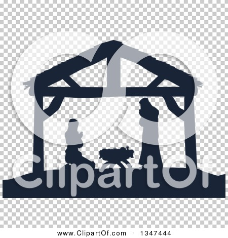 Mary and jesus praying clipart graphic freeuse download Clipart of a Navy Blue Silhouetted Mary and Joseph Praying over ... graphic freeuse download