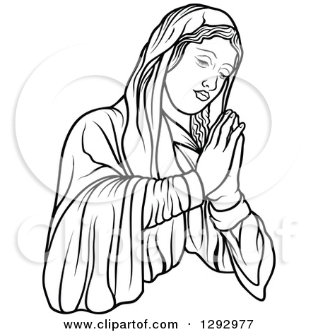 Mary and jesus praying clipart vector royalty free stock Mary and jesus praying clipart black and white - ClipartFest vector royalty free stock