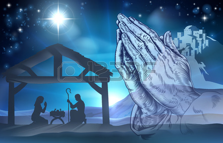 Mary and jesus praying clipart png stock Nativity Christian Christmas Scene Of Baby Jesus In The Manger ... png stock