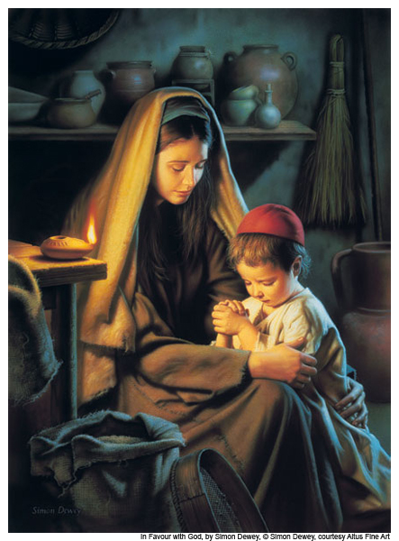 Mary and jesus praying clipart graphic library Jesus praying with his mother, Mary | Pictures I love | Pinterest ... graphic library