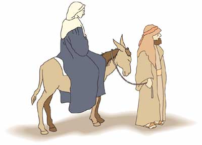 Mary and joseph riding on donkey clipart free png royalty free stock Mary and Joseph\'s trip to Bethlehem! I tried to find a link to this ... png royalty free stock