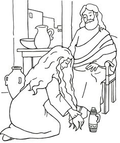 Mary annointing jesus feet clipart image free library Clipart of mary washing jesus feet - ClipartFest image free library