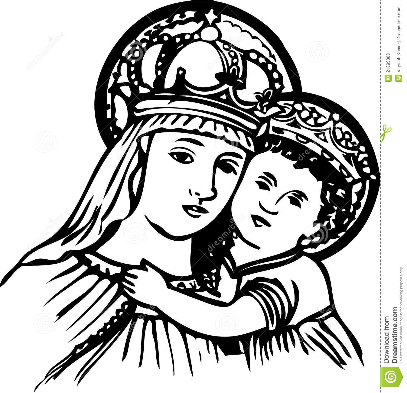 Mary baby jesus clipart picture transparent download Mary Mother Of Jesus Clipart – Clipart Free Download picture transparent download