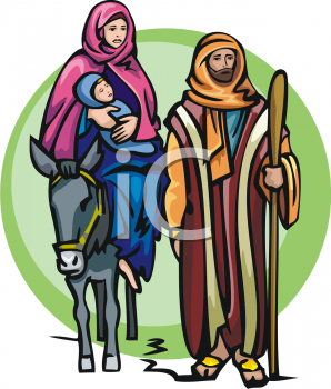 Mary baby jesus clipart graphic free Clipart Image of Joseph, Mary and the Baby Jesus graphic free