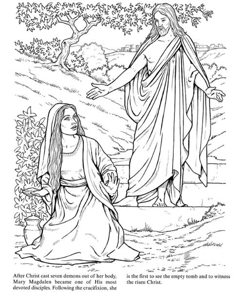 Mary garden jesus clipart royalty free stock Christian Easter Coloring Pages royalty free stock
