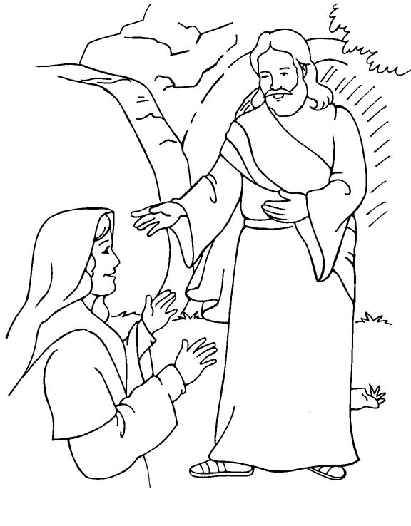 Mary garden jesus clipart png library library 1000+ images about Coloring: Bible: NT: Gospels: Passion through ... png library library