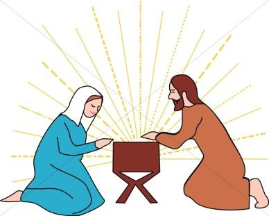 Mary garden jesus clipart graphic transparent stock Jesus in the Manger with Mary and Joseph | Manger Clipart | IMAGES ... graphic transparent stock