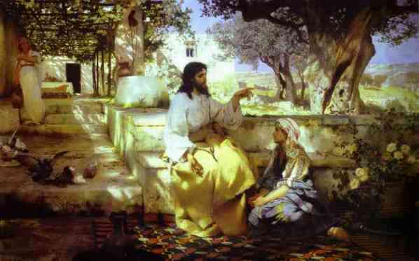 Mary garden jesus clipart svg MARTHA & MARY - famous paintings svg