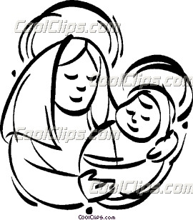 Mary holding baby jesus clipart jpg freeuse download Mary jesus mother clipart - ClipartFest jpg freeuse download