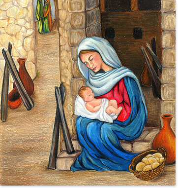 Mary holding baby jesus clipart svg library stock Mary holding baby jesus clipart - ClipartFest svg library stock