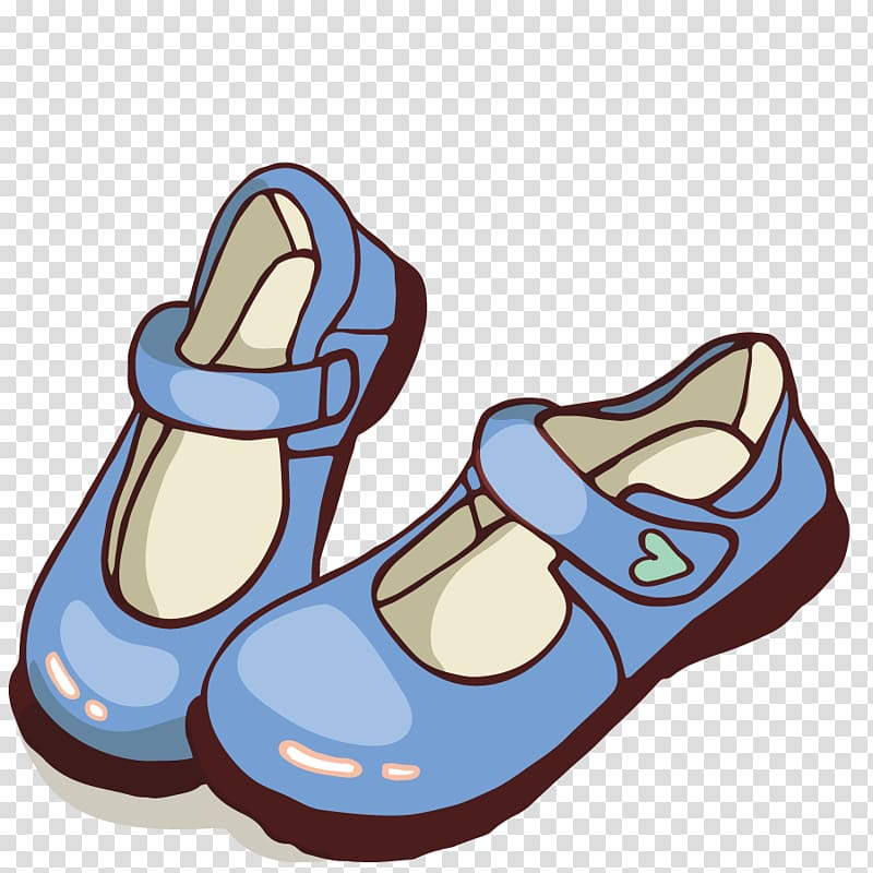 Mary jane clipart free stock Pair of blue mary jane shoes illustration poster, Shoe ... free stock