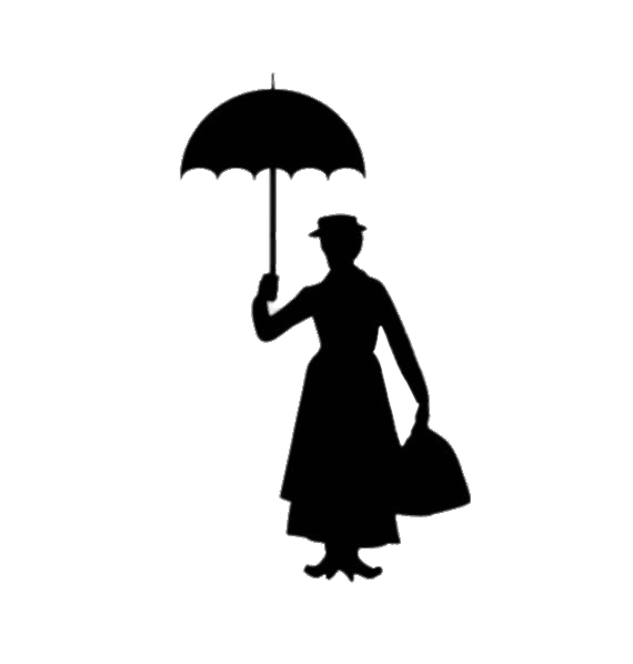 Mary poppins hat clipart jpg library Mary Poppins Silhouette transparent PNG - StickPNG jpg library