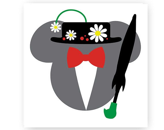 Mary poppins hat clipart image royalty free Disney, Mary Poppins, Icon Mickey Head, Icon Minnie Head, Mouse Ears ... image royalty free