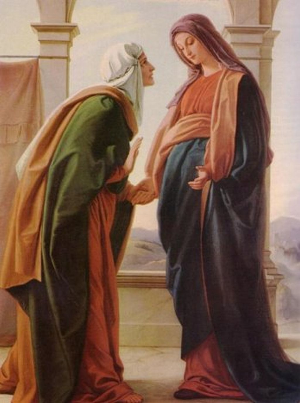 Mary pregnant with jesus clipart clip free THE VIRGIN MARY VISITS ELIZABETH « GoodOleWoody's Blog and Website clip free