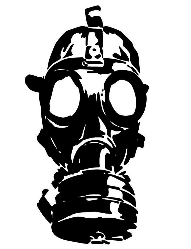 Mascara de gas clipart vector royalty free library Zombie Face With A Gas Mask Decal - Clip Art Library vector royalty free library