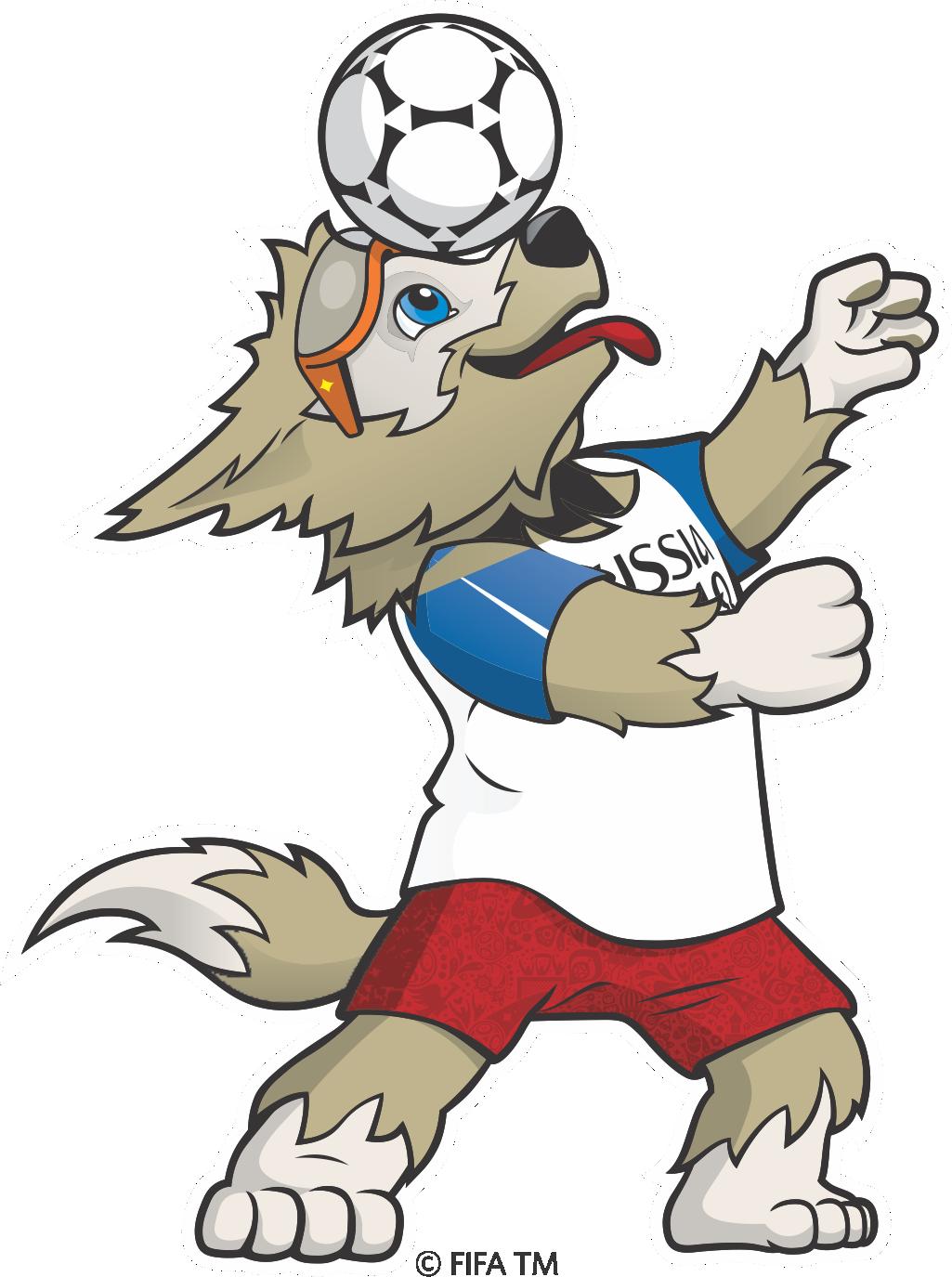 Mascote da copa 2018 clipart