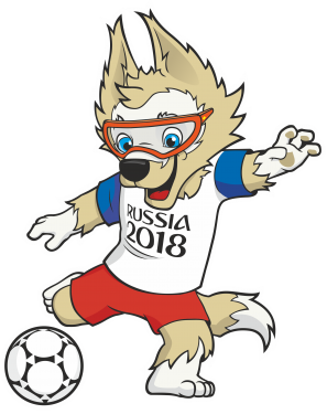 Logo copa do mundo 2018 clipart black and white Mascote copa russia clipart images gallery for free download ... black and white