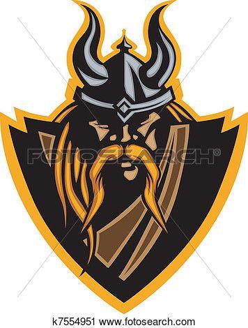 Mascotte clipart clip free download Viking, mascotte, vecteur, graphique, à, h Clipart | Graphic ... clip free download