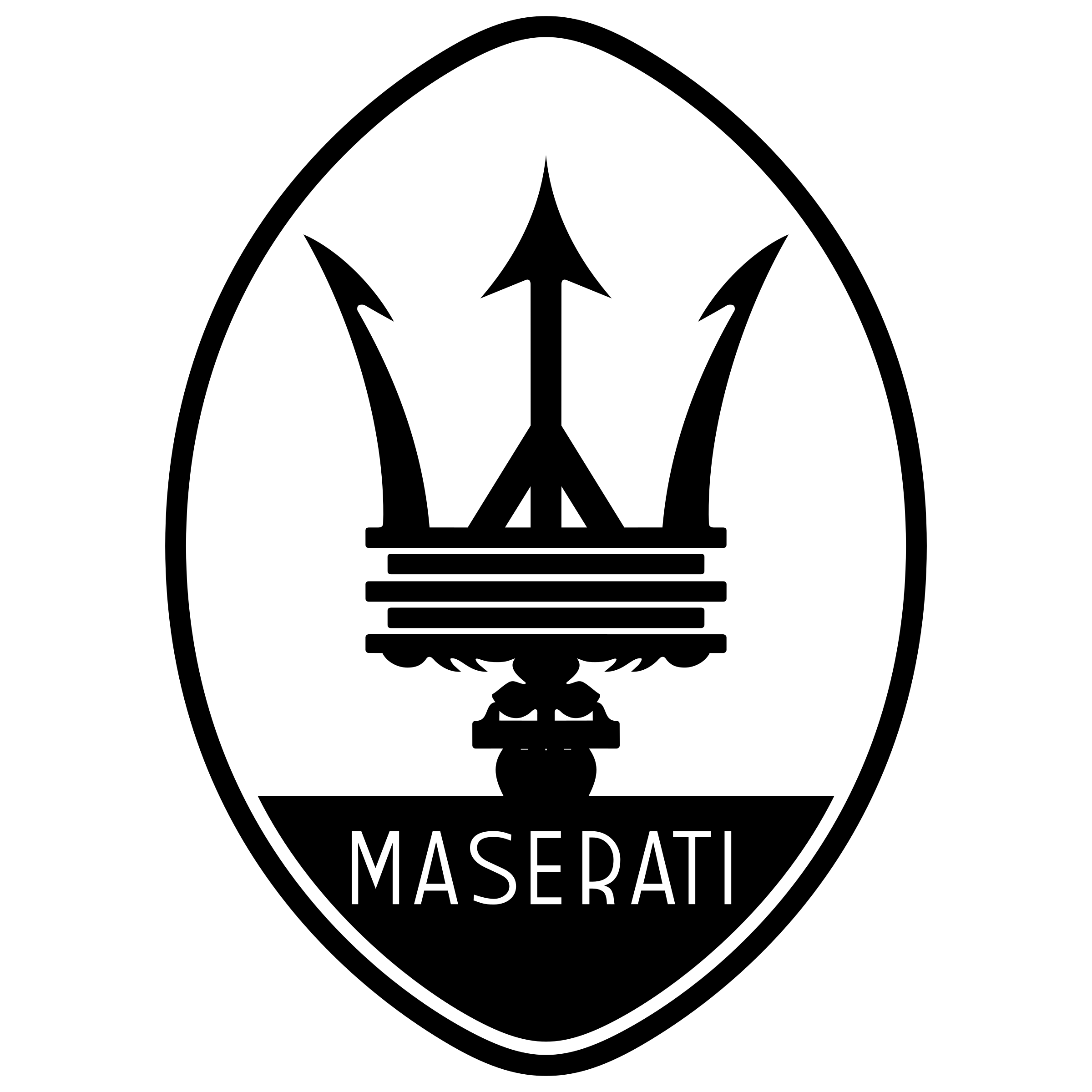 Maserati logo clipart png black and white library Maserati logo PNG png black and white library