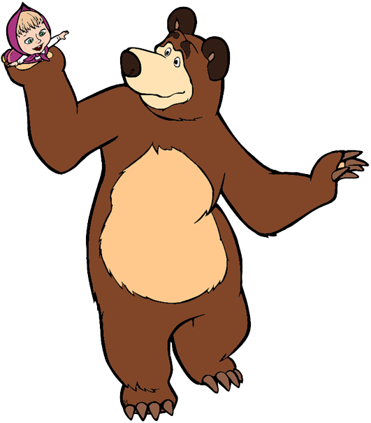 Masha and the bear clipart graphic library download Masha and the Bear Clip Art | Cartoon Clip Art graphic library download
