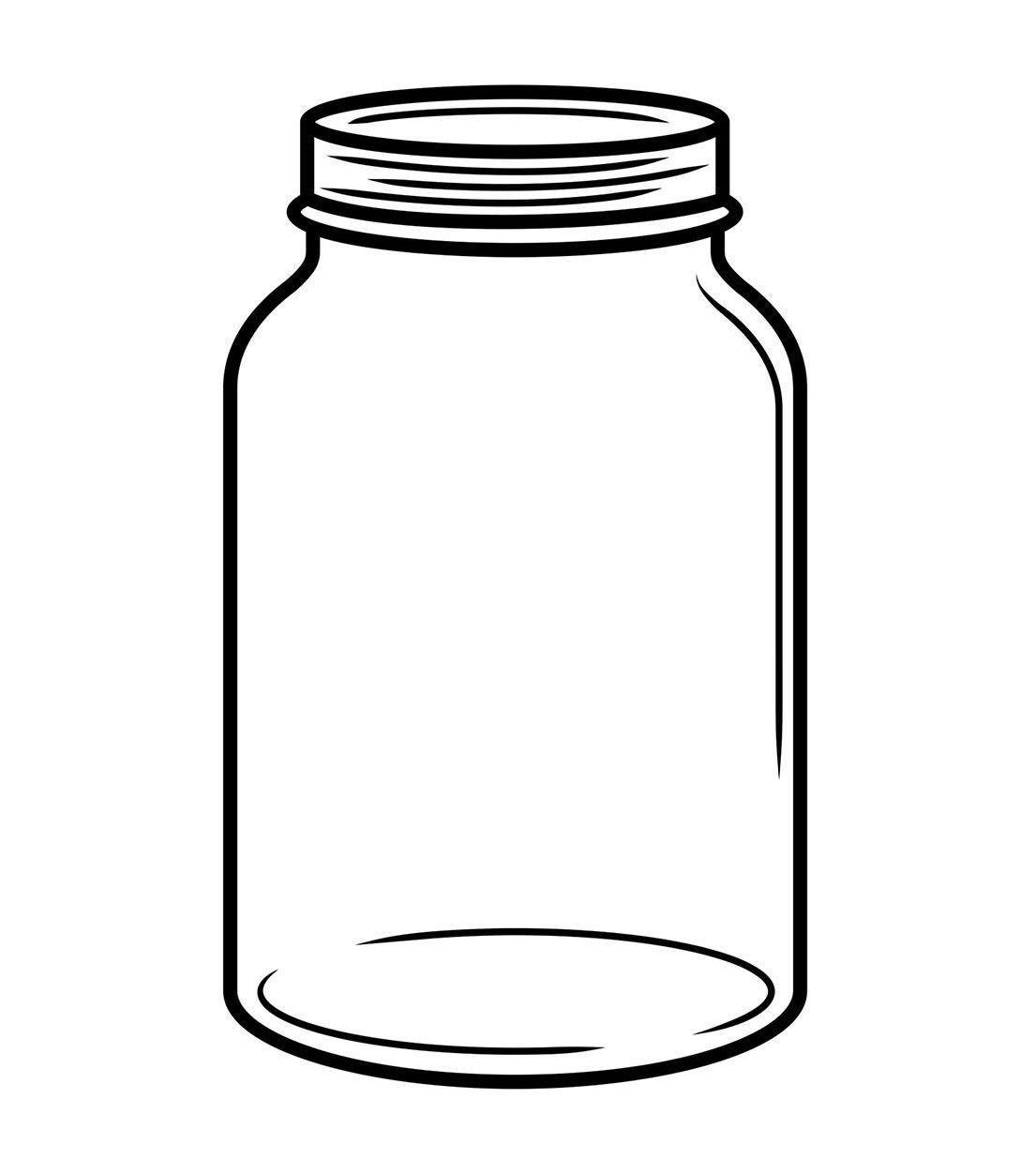 Mason jar clipart images image freeuse stock Mason Jar Outline Svg Drawing Printable Vector Jars ... image freeuse stock