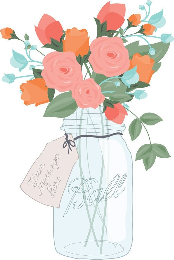 Mason jar clipart with flowers svg freeuse download Flower clip art mason jar - 15 clip arts for free download on EEN 2019 svg freeuse download