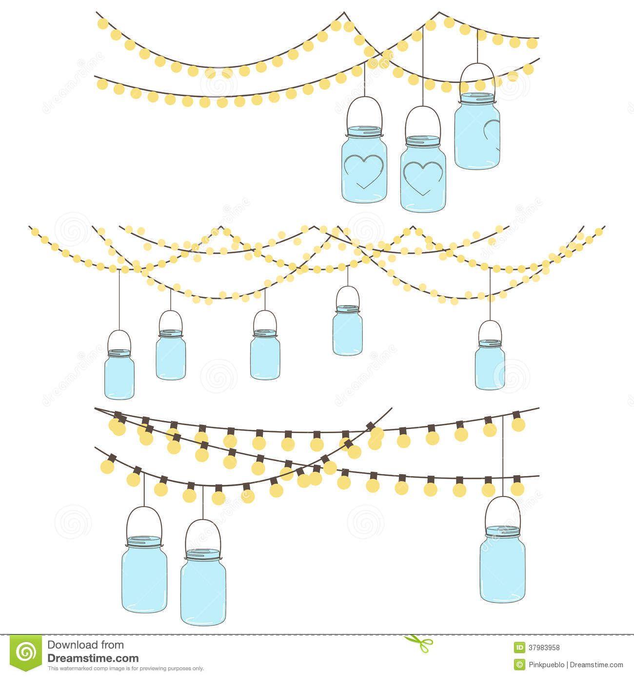 Mason jar lights clipart vector free library mason jar flower clip art - Google Search | Wedding Prep | Hanging ... vector free library