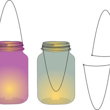 Mason jar lights clipart vector free library Mason jar lights clipart (85 ) - Clipartable.com vector free library