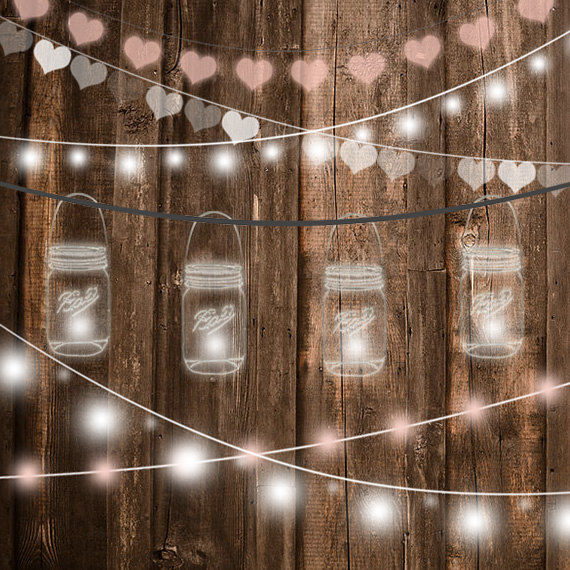 Mason jar lights clipart clip freeuse Mason Jar String Lights Clipart clip freeuse