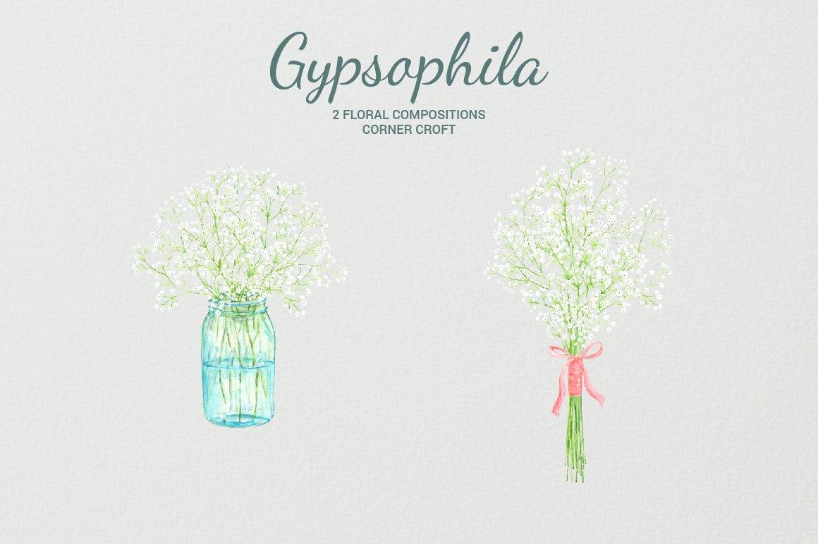Mason jar with baby-s breath clipart graphic library Watercolor gypsophila, baby\'s breath, mason jar flowers, gypsophila ... graphic library