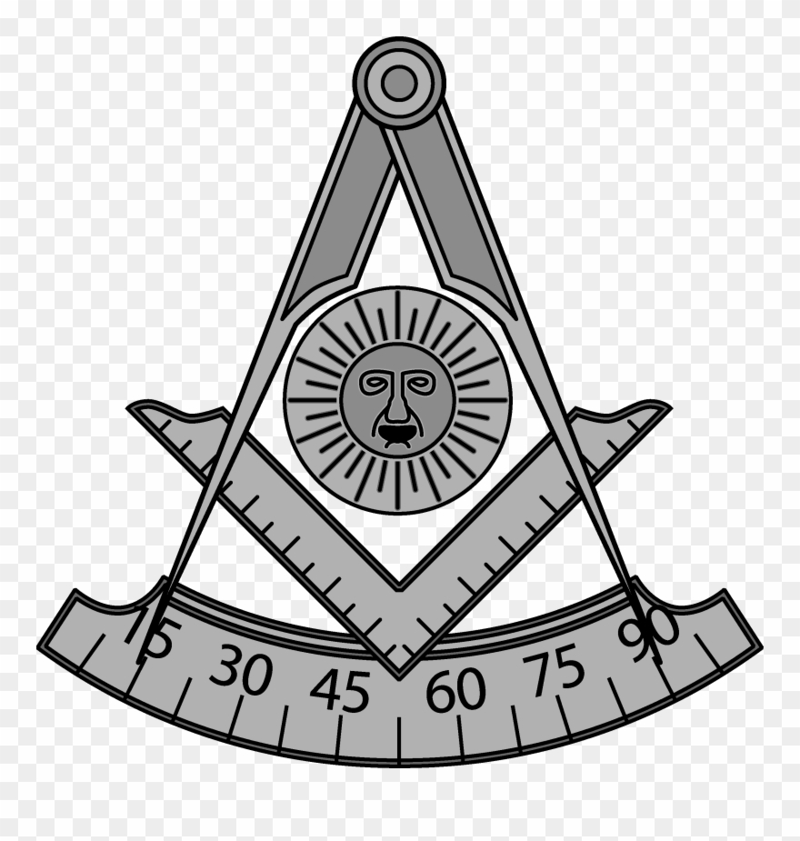Mason logo clipart graphic Freemason Vector Black And White Black And White Library - Past ... graphic