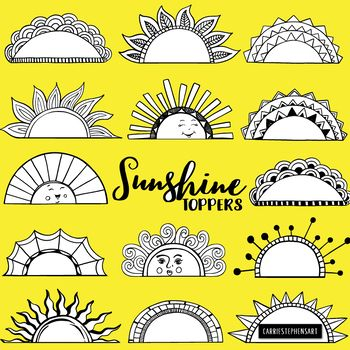 Masonic decorative dividers and double lines clipart graphic transparent download Sunshine Toppers, Frame and Label Black Line Art, Sun Silhouettes ... graphic transparent download