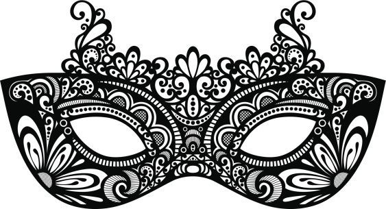 Masquerade mask clipart on stick with ribbon vector freeuse Masquerade cliparts | Mask | Masquerade mask template, Mask template ... vector freeuse